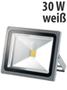 Luminea Wetterfester LED-Fluter im Metallgeh�use, 30 W, IP65, wei�
