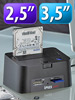 "USB-HDD-Station ""FD-400Twin"" 2,5"" & 3,5"" SATA mit Card-Reader"
